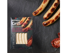 Cooked frankfurters for grilling WITH DRIED TOMATOES